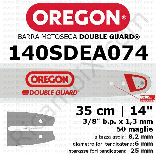 Barra motosega Oregon Double Guard 140SDEA074 - 35 cm - 14 pollici
