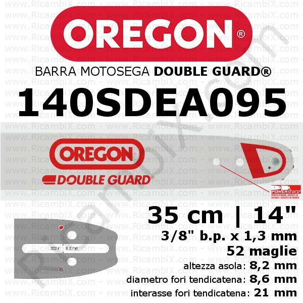 Barra motosega Oregon Double Guard 140SDEA095 - 35 cm - 14 pollici