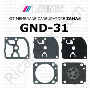 Kit membrane carburatore ZAMA® GND-31